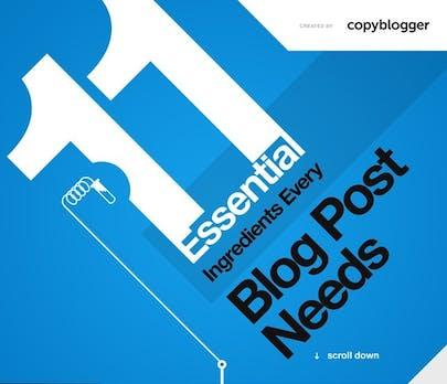 Blogposts: Mit diesen 11 Zutaten werden sie richtig gut [Infografik]