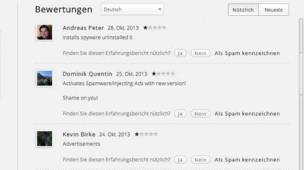 Chrome-Erweiterungen werden verkauft und die neuen Besitzer setzen teilweise schädliche Funtkionen ein. (Screenshot: Google Web-Store)