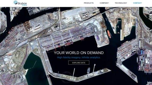 Skybox aus den USA versteht sich als Cloud-Anbieter der Zukunft. Nur: Die Infrastruktur findet sich mit 23 Satelliten im All. (Screenshot: Skybox)
