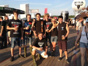 Julius Schay beim Sugartrends-Teamevent in Wacken