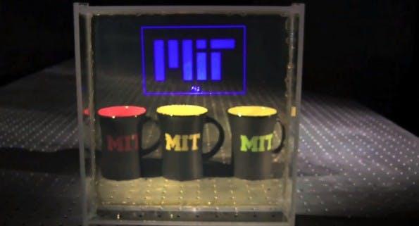 MIT: Transparentes Display nutzt Nanopartikel. (Screenshot: YouTube)
