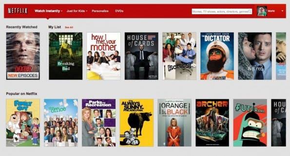Netflix kommt angeblich noch im Jahr 2014 nach Deutschland und Frankreich. (Screenshot: netflix.com)