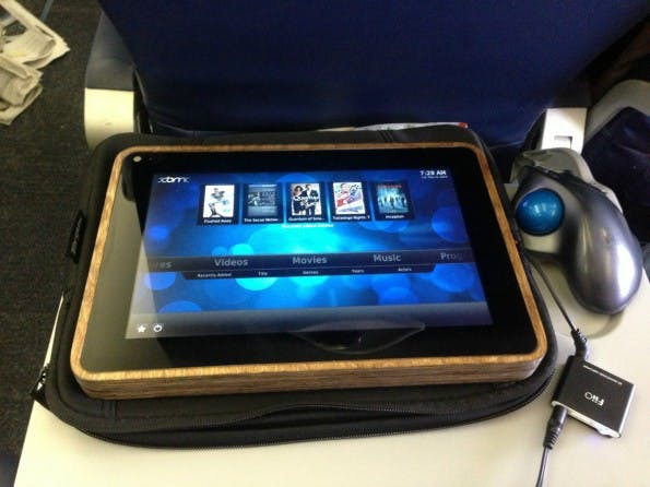 Das PiPad: Ein Raspberry-Pi-Tablet der Marke Eigenbau. (Foto: Michael Castor)