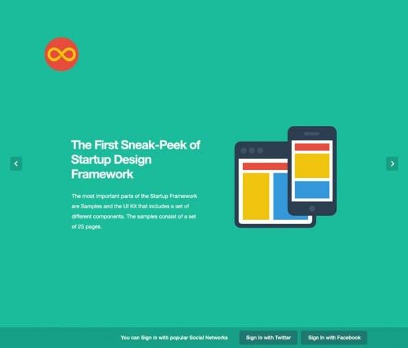 Das Startup Framework basiert auf Bootstrap 2.3.2. (Bild: Designmodo)