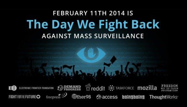 The Day We Fight Back: Am 11. Februar sollen Internetseiten und Nutzer auf die Massenüberwachung der NSA aufmerksam machen. (Quelle: thedaywefightback.org)