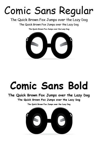 """Nur logisch: Der The-Verge-Kommentator """"Tomjohn36"""" hat auch eine Brille im Stil von Comic Sans MS entworfen. (Quelle: theverge.com)"""