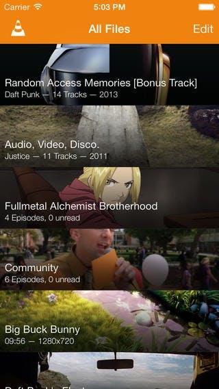 VLC für iOS beherbergt eine Medien-Bibliothek, die automatisch Metadaten zu neuen Inhalten abruft. (Quelle: wiki.videolan.org)