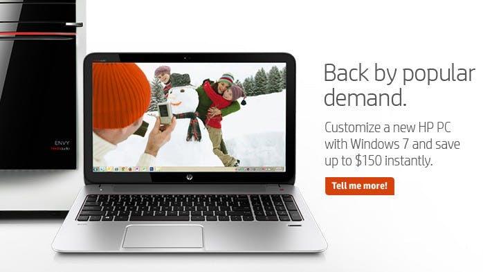 Zurück ins Jahr 2009: HP verkauft wieder Windows-7-Rechner