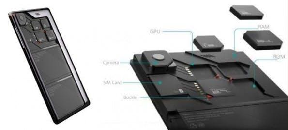 Eco-Mobius: ZTE zeigt auf der CES 2014 ein modulares Smartphone-Konzept. (Bild: ZTE)