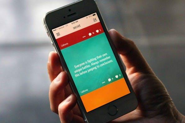 Aufstieg der anonymen Netzwerke: Mit Secret und Whisper mischen derzeit zwei ungewöhnliche Apps die Szene auf. (Foto: Secret)