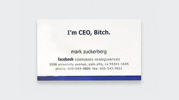 I'm CEO, Bitch! 8 originale Visitenkarten von Zuckerberg bis Jobs