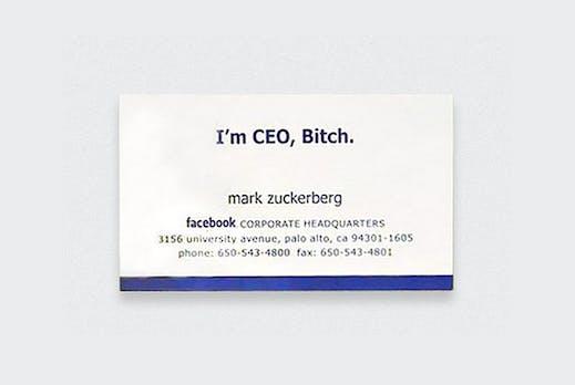 I'm CEO, Bitch! 8 originale Visitenkarten von Zuckerberg bis Jobs [Bildergalerie]