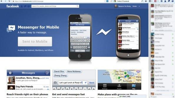 Als Facebooks Messenger 2011 auf den Markt kam, hatte er gegenüber WhatsApp bereits Nachholbedarf. (Foto: Nguyen Hung Vu  – via flickr , Lizenz   CC BY 2.0)
