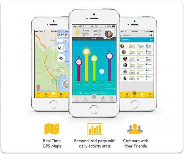 Die Flyfit-App wartet mit detaillierten Statistiken und einer GPS-Map auf. (Bild: Flyfit)