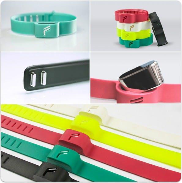 Den Flyfit Fitness-Tracker soll es in fünf verschiedenen Farben geben. (Quelle: Flyfit)