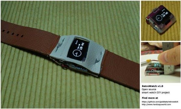 RetroWatch: An dem Gehäuse der Arduino-Smartwatch könnt ihr natürlich noch feilen. (Bild: Young-Bae Suh)