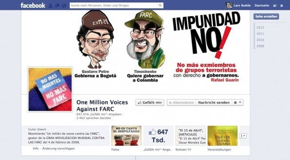 Ein aktueller Screenshot der Facebookseite der Initiative. (Screenshot: Facebook)
