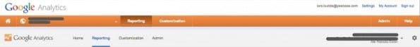 Vorher-/ Nachher-Vergleich des Headers von Google Anyltics. (Screenshot: Google.com)