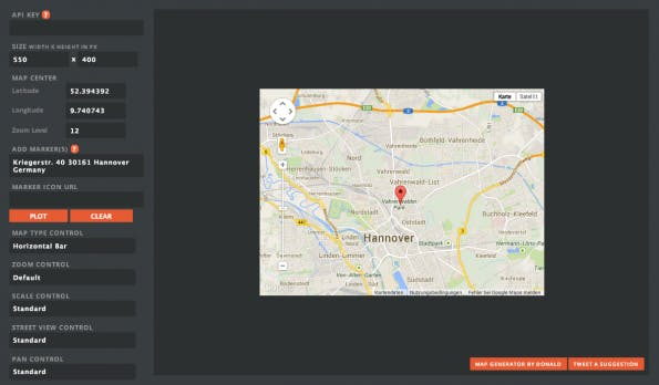 Google Map Builder Screenshot