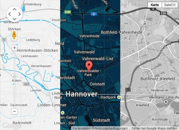 Google Map Builder Karten Designs