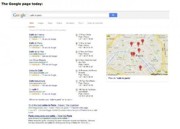 Die lokalen Ergebnisse bei Google vor der Einigung mit der EU. (Bild: europa.eu)
