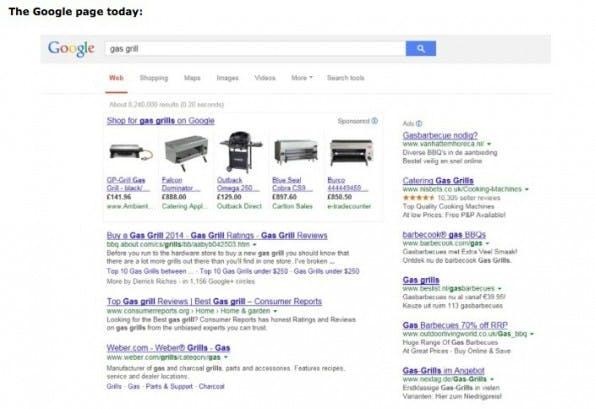 Die Ergebnisse von Google Shopping vor der Einigung mit der EU. (Bild: europa.eu)