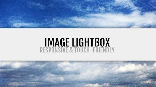 Image Lightbox. Schick, schlank, responsive