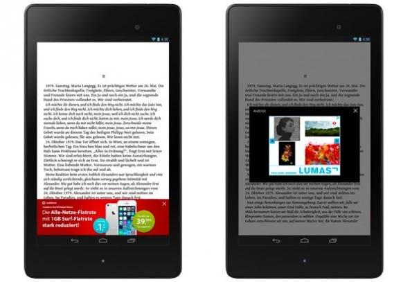Kostenlose E-Books: So soll die Werbung in Readfy aussehen. (Bild: Readfy / Companisto)