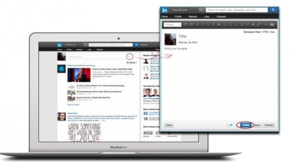 LinkedIn: Karriere-Netzwerk öffnet Blogging-Plattform für alle Nutzer. (Bild: LinkedIn)
