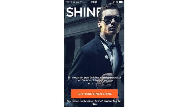 Die App, die Misfit für den Shine programmiert hat ... (Screenshot: Shine-App)