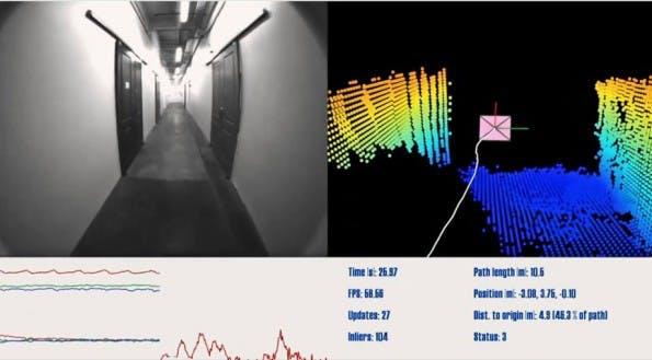 Das 3D-fähige Project-Tango-Smartphone erkennt seine Umgebung. (Screenshot: Youtube)