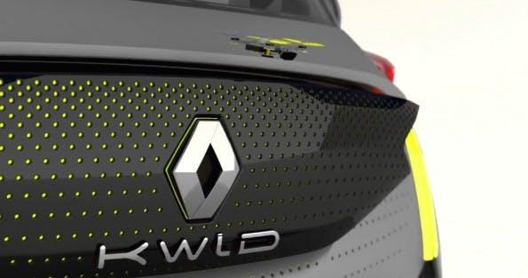 Das Concept-Car Renault Kwid sieht standardmäßig eine Drohne als Fahrzeugbegleiter vor. (Bild: Renault)