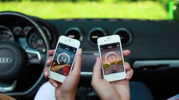 Das sichere Fahrerlebnis wollen Dash und Automatic durch einen Gamification-Ansatz schaffen. Wer besonders achtsam fährt, sammelt Punkte und Belohnungen in Form von Tankgutscheinen. (Screenshot: Dash)
