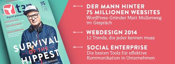 t3n 35: Der Schwerpunkt des Magazins beleuchtet die innovative Arbeitskultur von Startups und Gründer-Teams.
