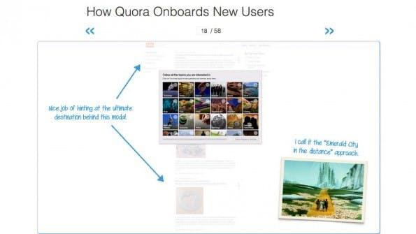 User Onboarding: Die Seite zerlegt den Onboarding-Prozess verschiedener Seiten. (Screenshot: User Onboarding)