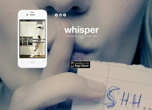 Apps wie Whisper und Secret bergen trotz aller Faszination eine Gefahr: Sie könnte vor allem Cyber-Mobber auf den Plan rufen. (Screenshot: Whisper)