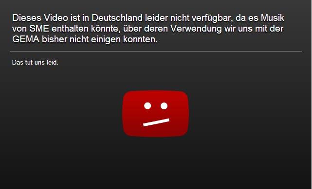 Gericht sieht GEMA im Recht: YouTube-Sperrtafeln sind unzulässig