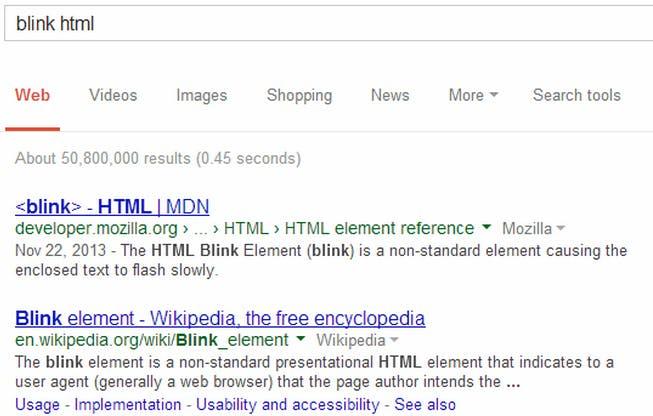 blink-Tag: Google-Easteregg bringt den Usability-Fail der 90er zurück