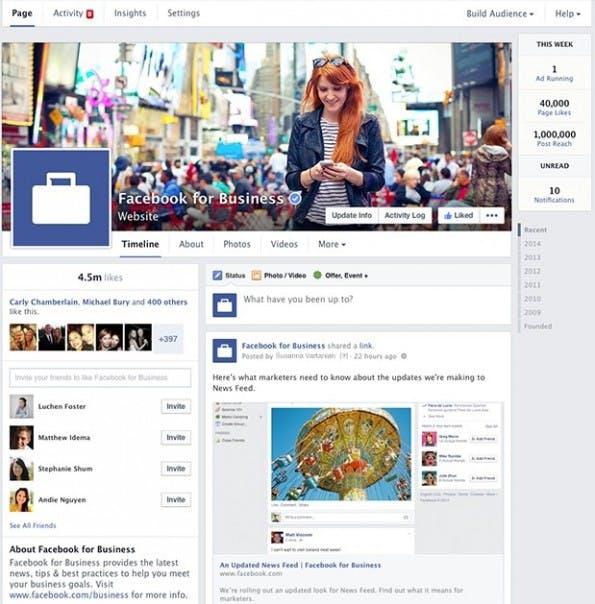 Neues Design für Facebook-Pages: Rollout innerhalb der nächsten 14 Tage. (Screenshot: Facebook)