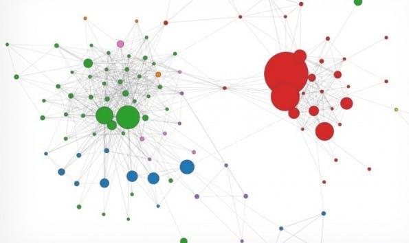 Metadaten zeigen die Beziehungen von Menschen zueinander auf. (Screenshot: Immersion)