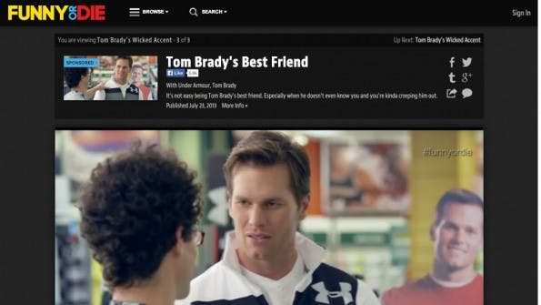 Tom Brady für Under Armour auf Funny or Die. (Screenshot: funnyordie.com)