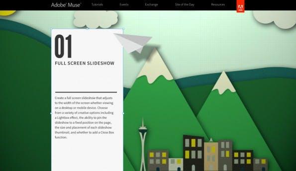 Adobe Muse Webseite