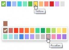 Diese Bootstrap-Erweiterung integriert einen einfachen Color-Picker. (Screenshot: Color-Picker)