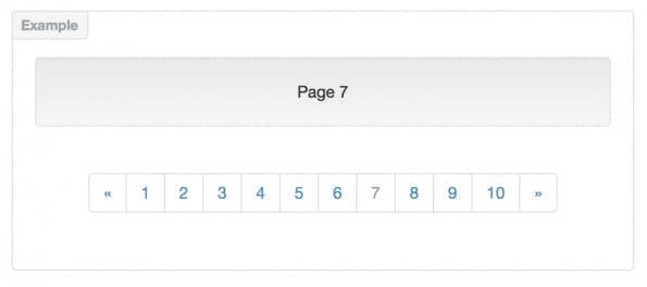 Bootstrap Pagination