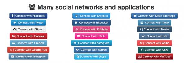 Bootstrap Social Buttons
