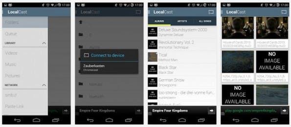 LocalCast: Kostenlose App um lokale Inhalte auf dem Fernseher anzuzeigen. (Screenshot: Play-Store)