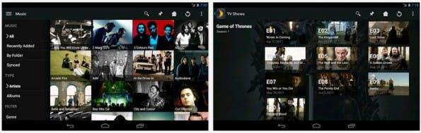 Plex: Das Mediacenter arbeitet auch gut mit dem Chromecast-Dongle. (Screenshot: Play-Store)