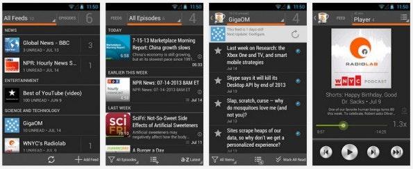 PodBeyond bringt Podcasts auf den Fernseher. (Screenshot: Play-Store)