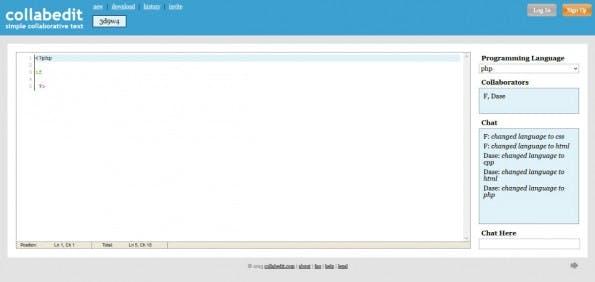 Sehr übersichtlich: Das collabedit-Interface. (Screenshot: t3n)