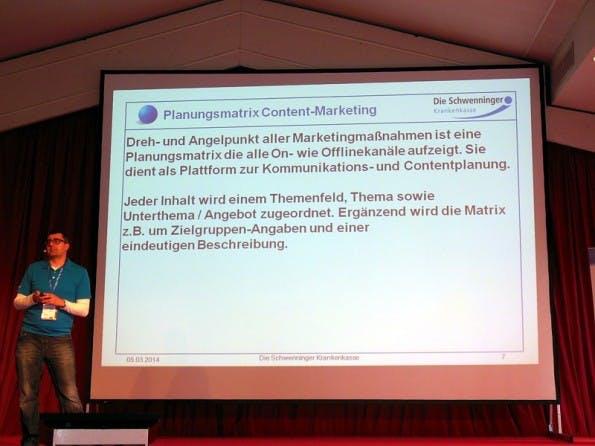 Die Schwenninger Krankenkasse berichtet über ihre Content-Marketing-Strategie. (Foto: Ulf-Hendrik-Schrader)